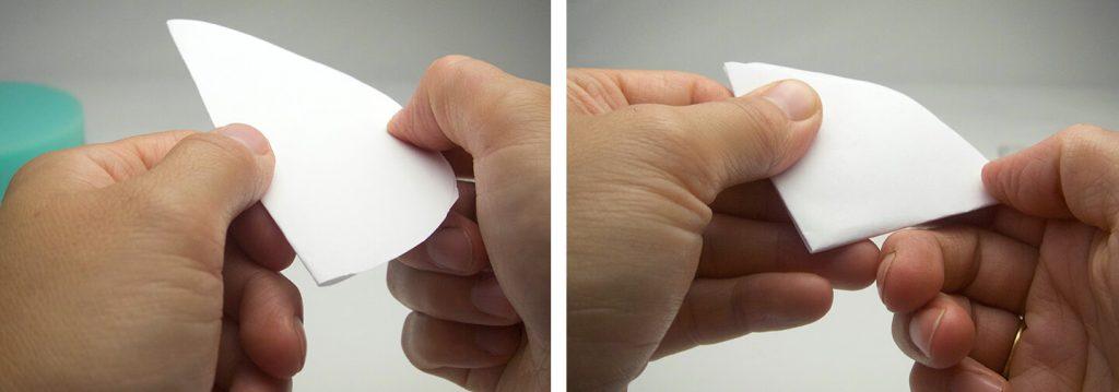 Folding paper.