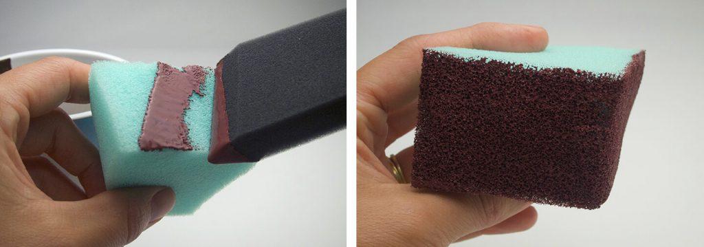 Turn green sponge a nice chocolatey brown colour.