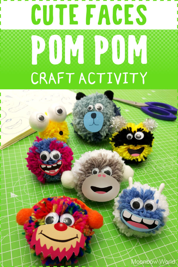 Pom Pom Faces Craft