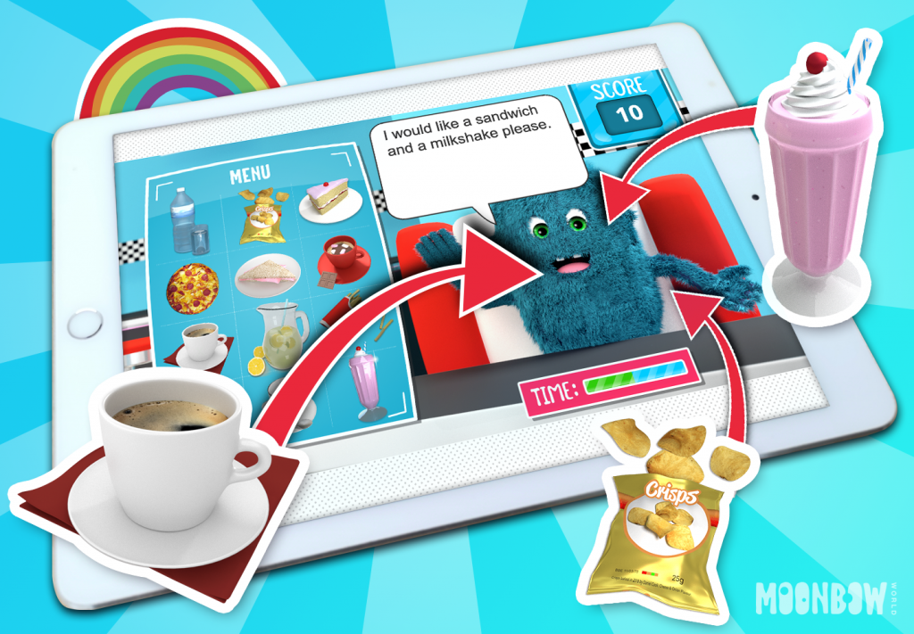 Cafe - English Vocabulary Learning Game. Play in a new window.