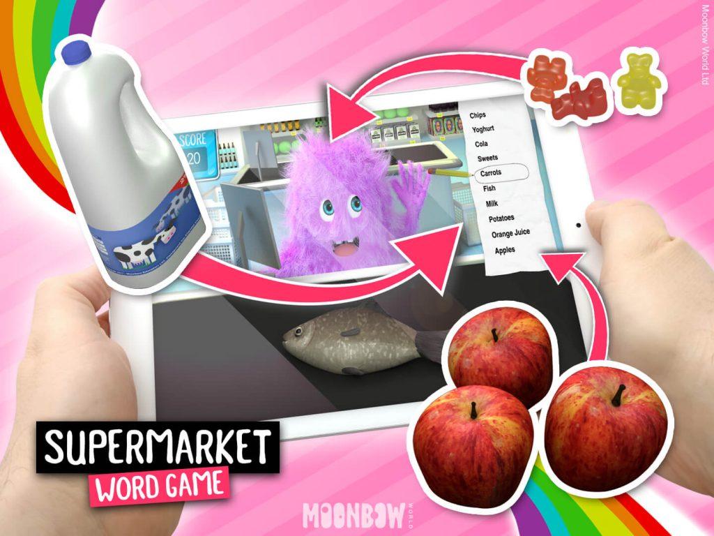 Supermarket Vocabulary - Shopping List Language Learning Game.