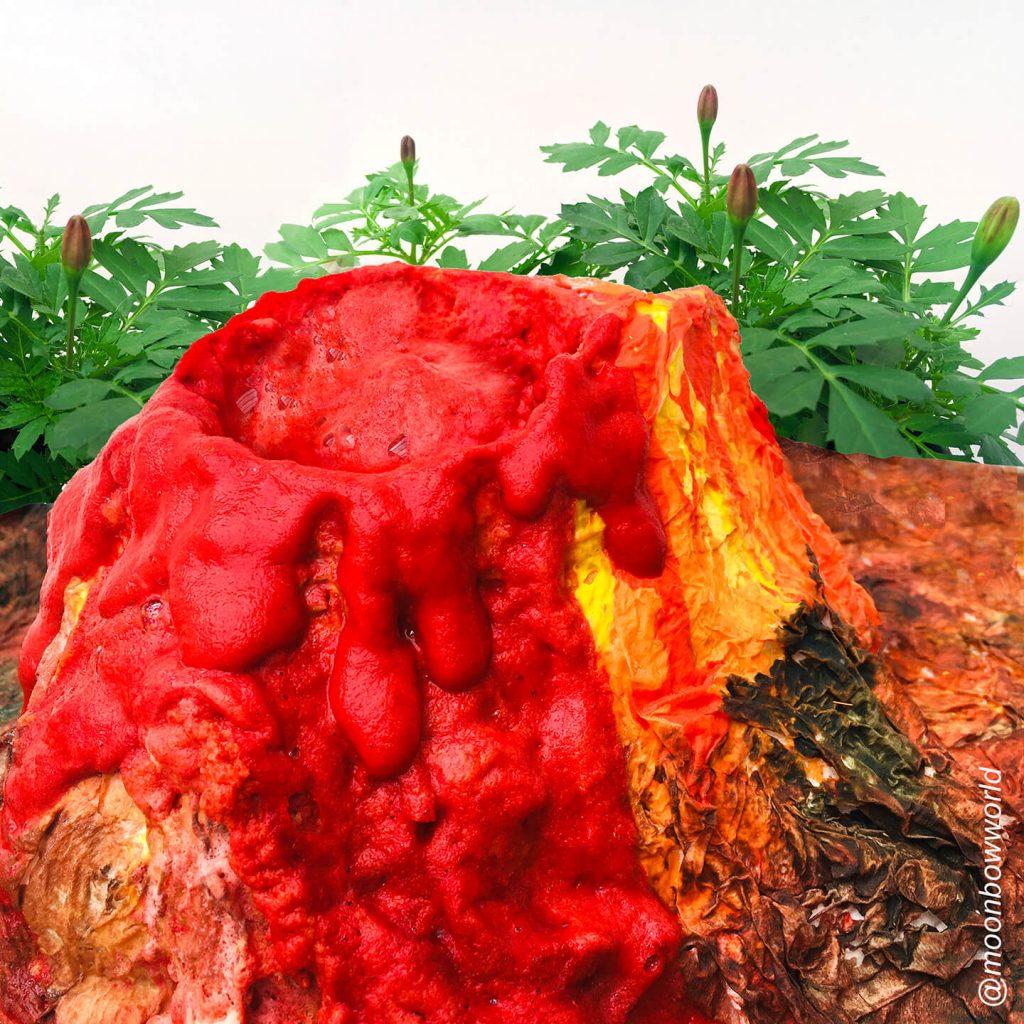 Make a volcano that erupts!